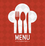 Restaurant and kitchen dishware. Design with icons, vector illustration graphic royalty free illustration