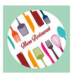 Restaurant and kitchen dishware Stock Images
