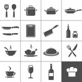 Restaurant kitchen icons Royalty Free Stock Image
