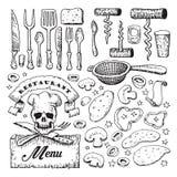 Restaurant and kitchen illustration Stock Photography