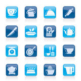 Restaurant and kitchen items icons Royalty Free Stock Photography