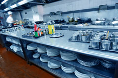 restaurant kitchen Stock Images