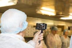 Restaurant kitchen visitors Stock Photos