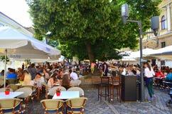 Restaurant in Klausenburg Napoca lizenzfreies stockfoto