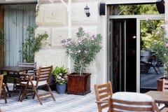 Restaurant, koffie, bistro, pizzeria stock foto