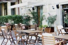 Restaurant, koffie, bistro, pizzeria stock fotografie
