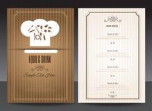 Restaurant of koffiemenu vectorontwerp Stock Afbeeldingen