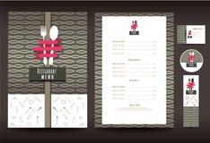 Restaurant of koffiemenu vectorontwerp Royalty-vrije Stock Afbeeldingen