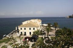 Restaurant in Korfu-Stadt Lizenzfreie Stockfotos