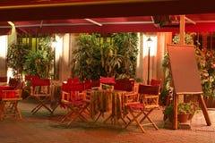 Restaurant la nuit Photographie stock