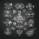 Restaurant label chalkboard Royalty Free Stock Image