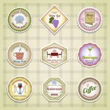 Restaurant label set color Royalty Free Stock Image
