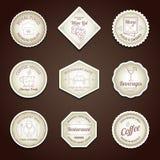 Restaurant label set Stock Photo