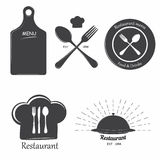 Restaurant labels Stock Photo