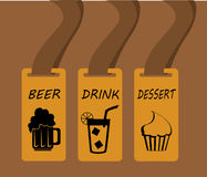 Restaurant labels Royalty Free Stock Image