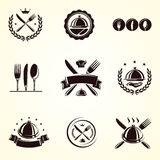 Restaurant labels set. Vector Stock Image