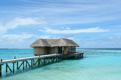 Restaurant in a lagoon Stock Photos