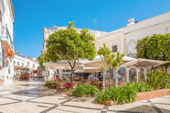 Restaurant in Lagos, Portugal Royalty Free Stock Photography