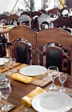 Restaurant laid table Royalty Free Stock Photos