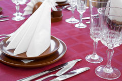 Restaurant laid table Royalty Free Stock Image