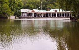 Restaurant on a lake Royalty Free Stock Photos