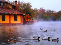 Restaurant on the lake Stock Photography
