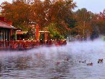 Restaurant on the lake Royalty Free Stock Image