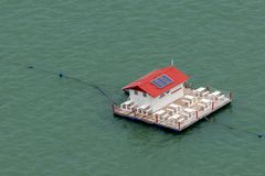 restaurant on the lake in bahia of Brazil royalty free stock images
