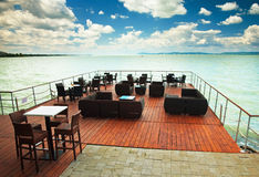 Restaurant at Lake Balaton Royalty Free Stock Image
