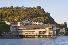 Restaurant on the lake of Puerto Varas, Chile. Restaurant on the lake of Puerto Varas stock photos