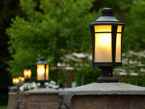 Restaurant lamps Royalty Free Stock Images
