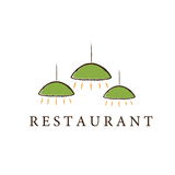Restaurant lamps art Royalty Free Stock Images