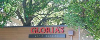 Restaurant latin de cuisine du ` s de Gloria Photographie stock
