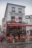 Restaurant Le Consulat, Montmartre, Parigi fotografia stock libera da diritti