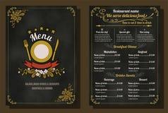 Restaurant-Lebensmittel-Menü-Weinlese-Design Stockbild