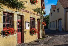 Restaurant Les Minimes in Semur-en-Auxois Stock Photography