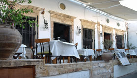Restaurant in Lindos Stock Images