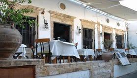 Restaurant in Lindos Stockbilder