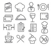 Restaurant Line Icons Royalty Free Stock Image