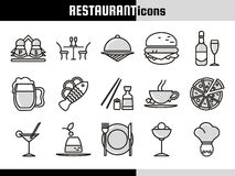 Restaurant Linear Icons Collection Royalty Free Stock Images