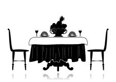 Restaurant little table Royalty Free Stock Image