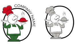 Restaurant logo. A illustration of a cook and restaurant logo Royalty Free Stock Image
