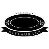Restaurant logo Stock Photo