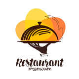 Restaurant logo. Icon or symbol for design menu eatery, canteen or cafe.  Stock Images