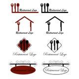 Restaurant logos. Set of eight restaurant logos isolated on white background. EPS file available Stock Illustration