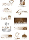 Restaurant logos Royalty Free Stock Photos