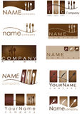 Restaurant logos Royalty Free Stock Image
