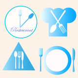Restaurant logos. Illustration of four restaurant logos Royalty Free Stock Images
