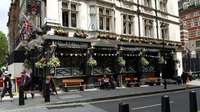Restaurant in Londen stock afbeelding
