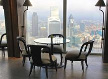 Restaurant in Londen, panorama Stock Foto